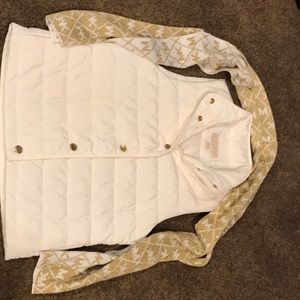 Jackets & Blazers - Michael Kors White Vest and Scarf